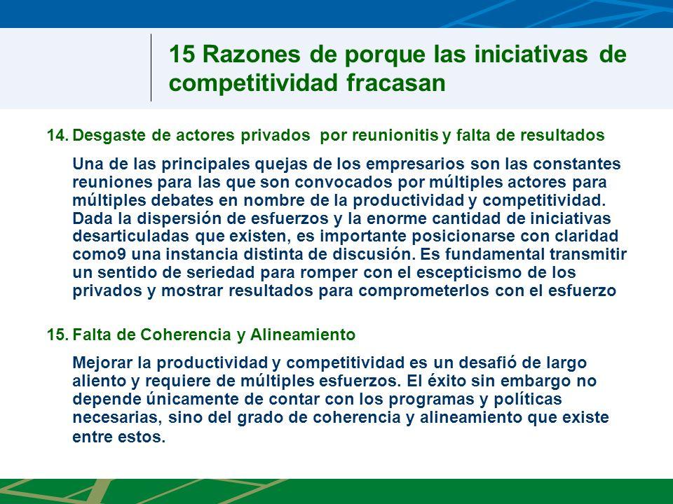 1.Compromiso y participación del mas alto nivel político 3.