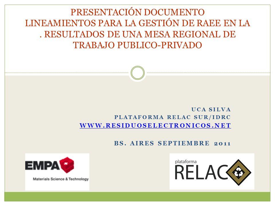 UCA SILVA PLATAFORMA RELAC SUR/IDRC WWW.RESIDUOSELECTRONICOS.NET BS.