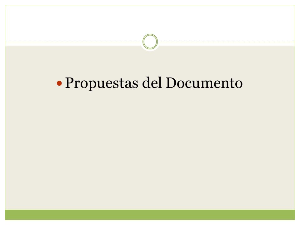 Propuestas del Documento