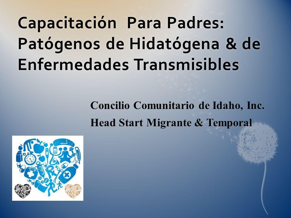 Capacitación Para Padres: Patógenos de Hidatógena & de Enfermedades Transmisibles Concilio Comunitario de Idaho, Inc. Head Start Migrante & Temporal