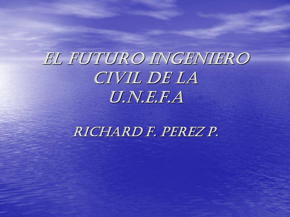 EL FUTURO INGENIERO CIVIL DE LA U.N.E.F.A RICHARD F. PEREZ P.