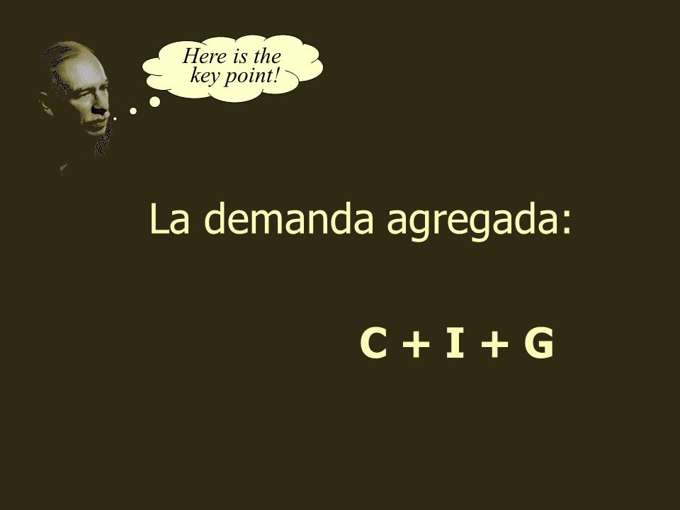 coll@uma.es C + I + G Here is the key point! La demanda agregada: