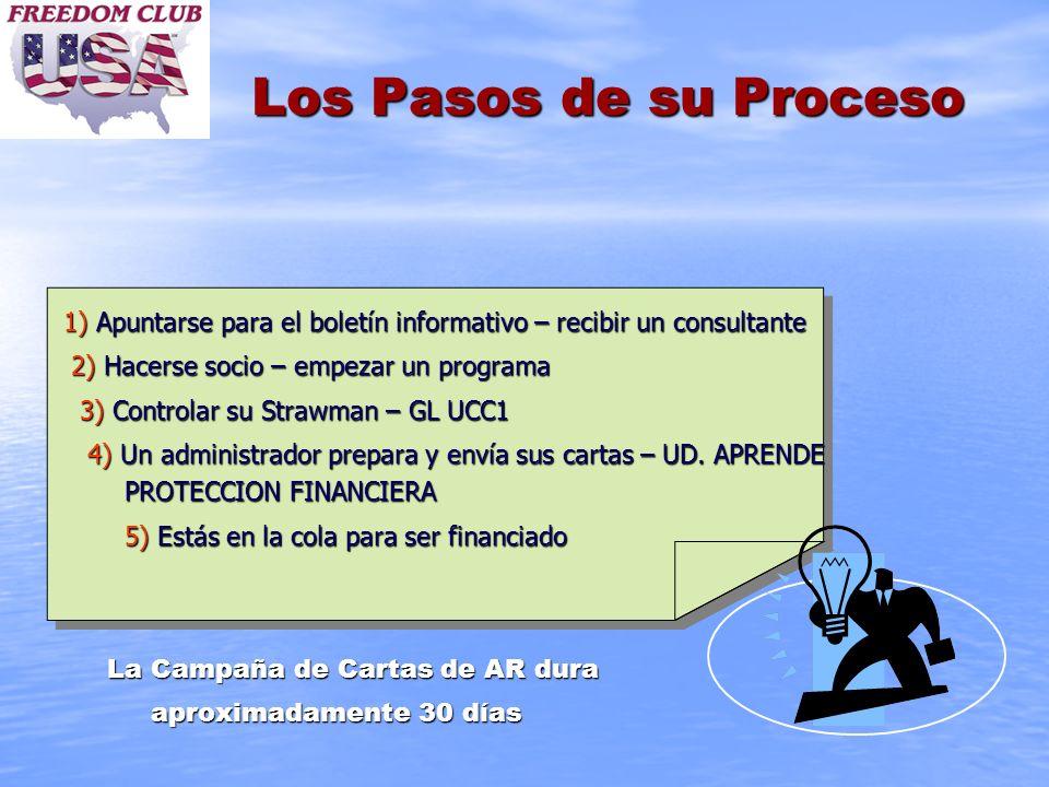 Los Pasos de su Proceso 1) Apuntarse para el boletín informativo – recibir un consultante 2) Hacerse socio – empezar un programa 2) Hacerse socio – em