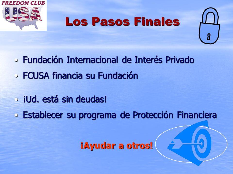Los Pasos Finales Fundación Internacional de Interés PrivadoFundación Internacional de Interés Privado FCUSA financia su FundaciónFCUSA financia su Fu