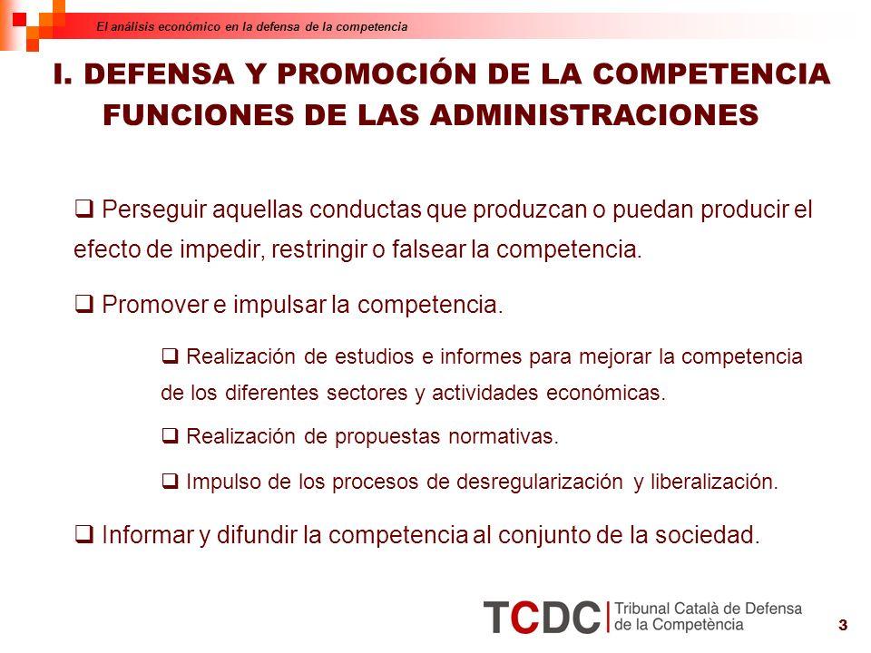3 FUNCIONES DE LAS ADMINISTRACIONES Perseguir aquellas conductas que produzcan o puedan producir el efecto de impedir, restringir o falsear la competencia.
