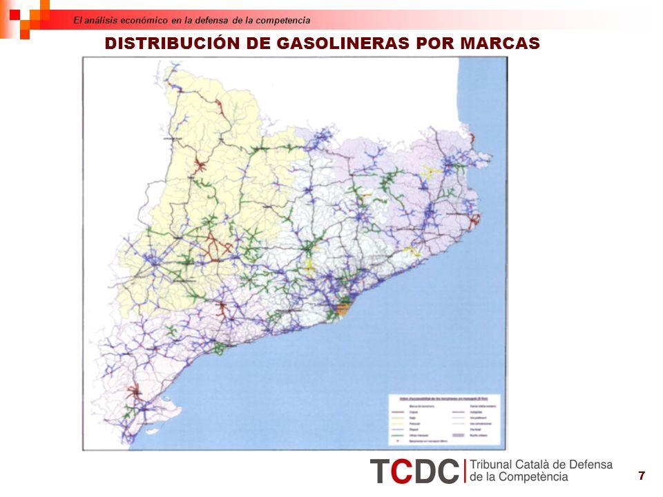 7 DISTRIBUCIÓN DE GASOLINERAS POR MARCAS El análisis económico en la defensa de la competencia