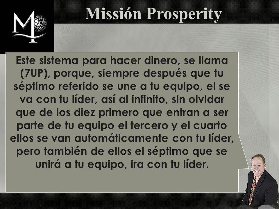 Missión Prosperity PD2. Costo $30.00 y Ganancias