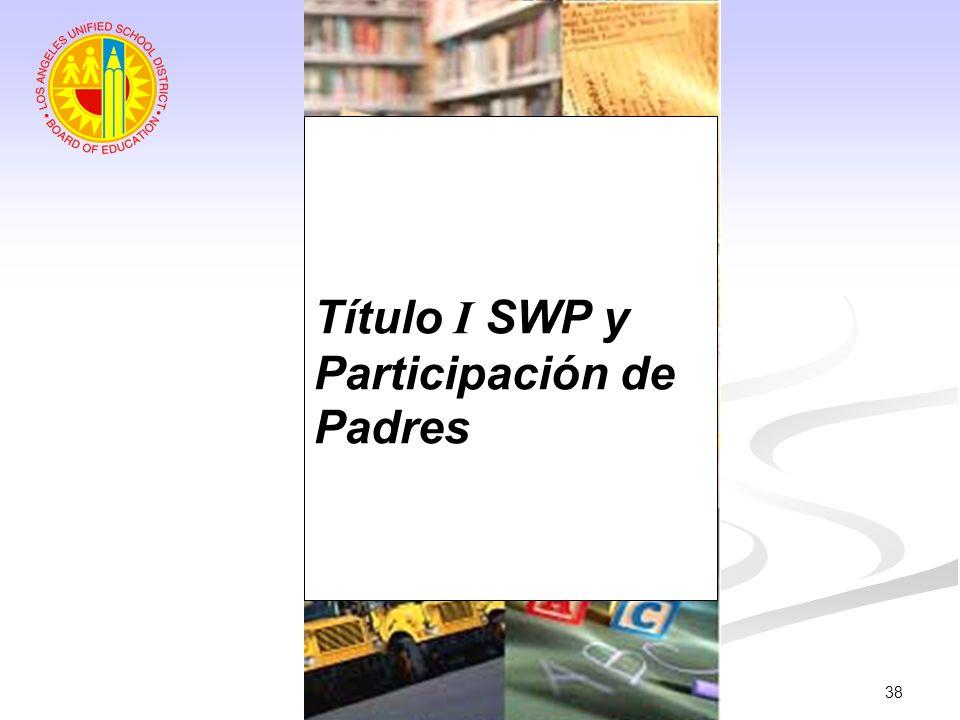38 Título I SWP y Participación de Padres
