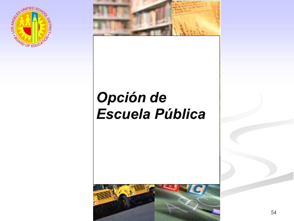 54 Opción de Escuela Pública