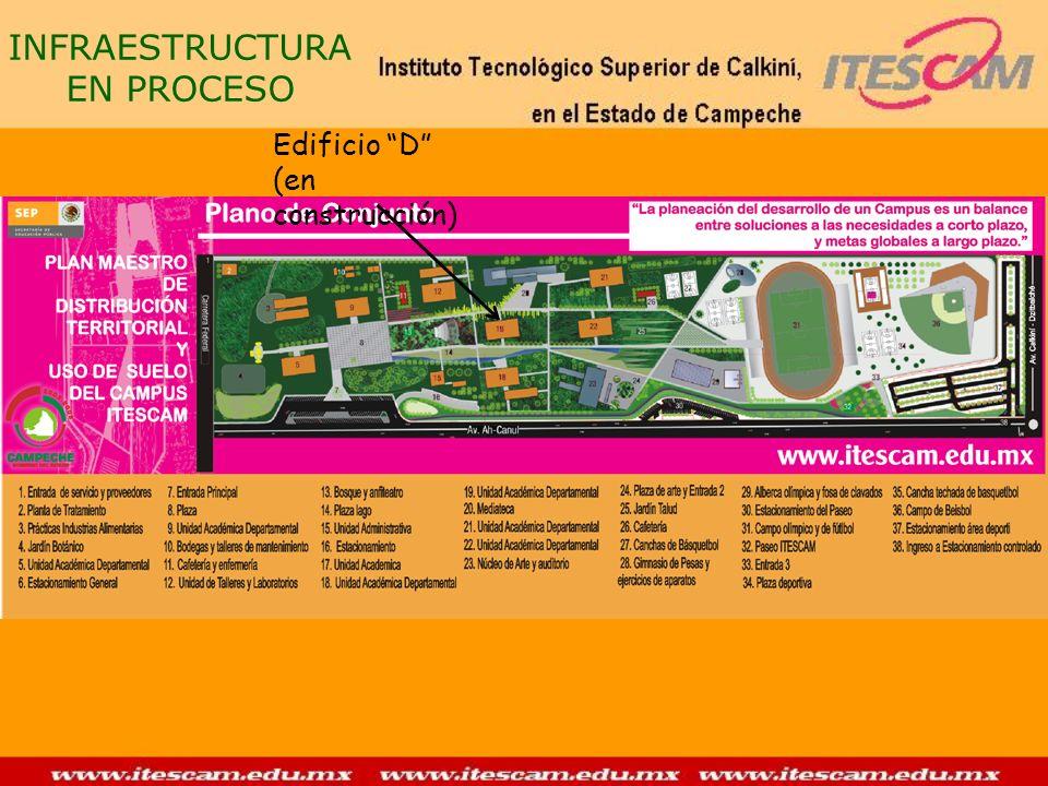 INFRAESTRUCTURA EN PROCESO Edificio D (en construcción)