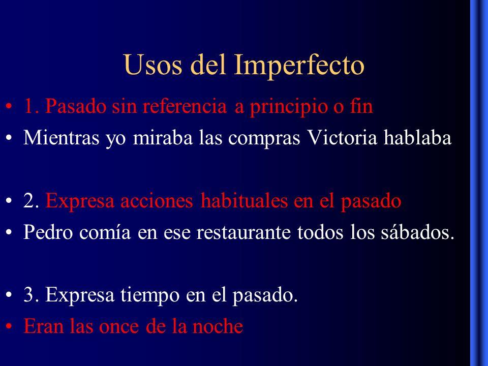 Usos del Imperfecto 1.