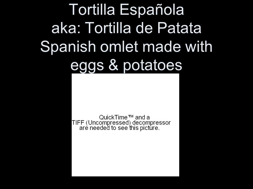 Tortilla Española aka: Tortilla de Patata Spanish omlet made with eggs & potatoes