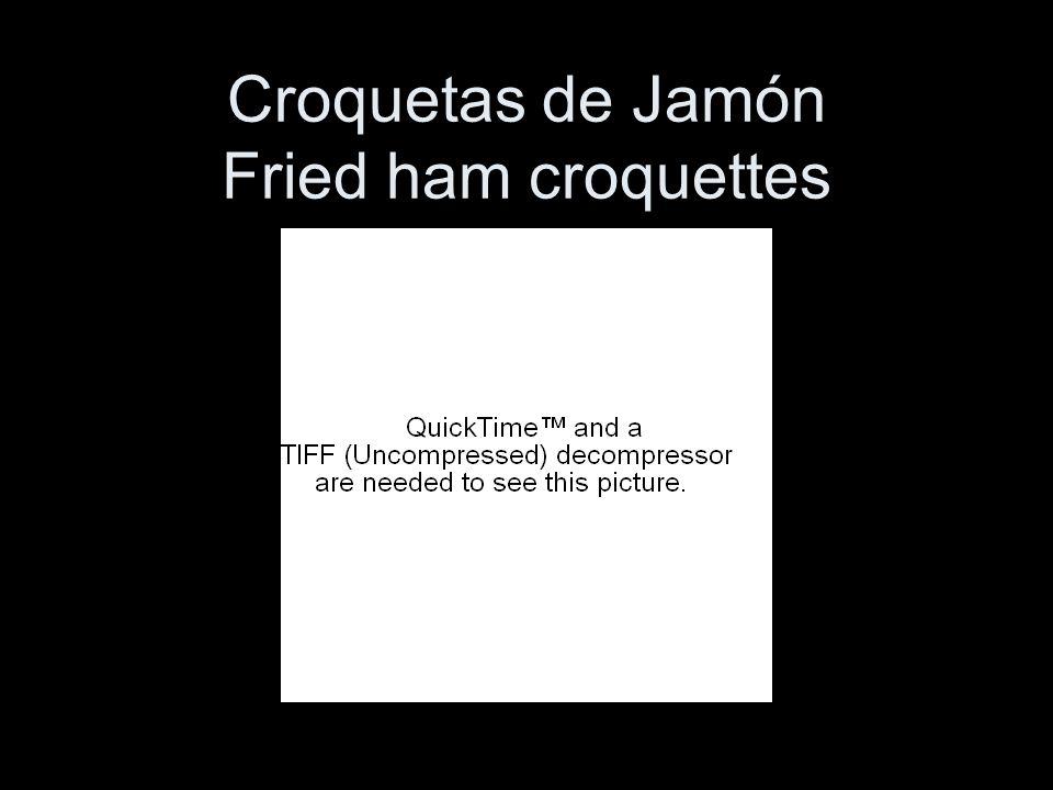 Croquetas de Jamón Fried ham croquettes