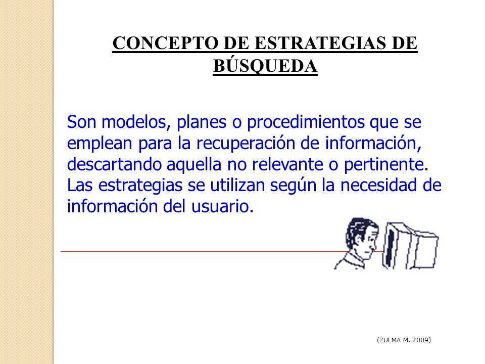 LAS ESTRATEGIAS DE BÚSQUEDA EN EL PROCESO DE ENSEÑANZA Y APRENDIZAJE (ZULMA M, 2009) Promover el protagonismo de nuestro aprendizaje.