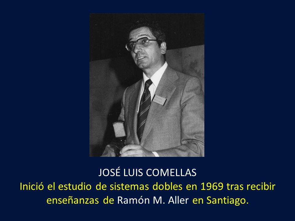 JOSÉ LUIS COMELLAS Inició el estudio de sistemas dobles en 1969 tras recibir enseñanzas de Ramón M. Aller en Santiago.