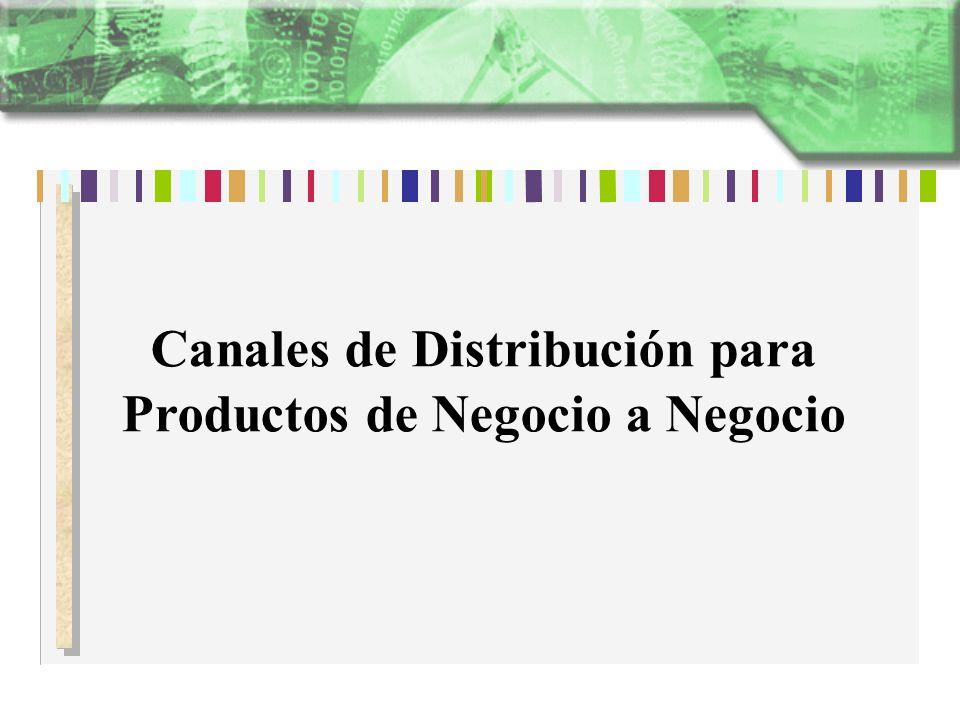 Canales de Distribución para Productos de Negocio a Negocio