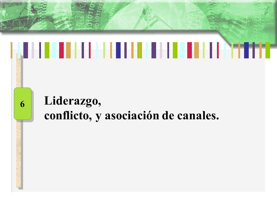 Liderazgo, conflicto, y asociación de canales. 6 6