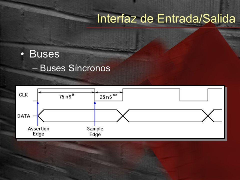 Interfaz de Entrada/Salida Buses –Buses Síncronos