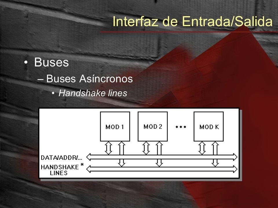 Interfaz de Entrada/Salida Buses –Buses Asíncronos Handshake lines
