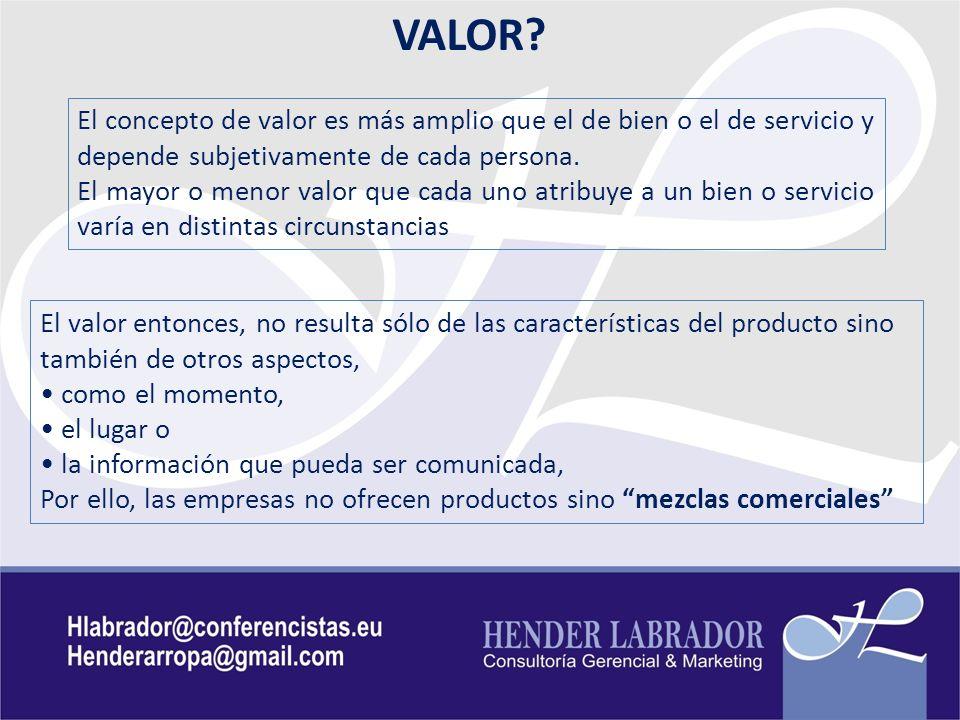 MEZCLAS COMERCIALES 1.Un producto o servicio con ciertas características, ( Producto ) 2.
