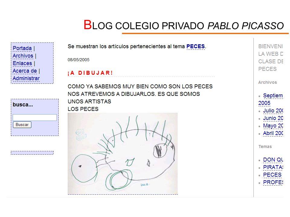 B LOG COLEGIO PRIVADO PABLO PICASSO