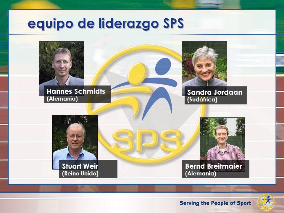 equipo de liderazgo SPS Hannes Schmidts (Alemania) Stuart Weir (Reino Unido) Bernd Breitmaier (Alemania) Sandra Jordaan (Sudáfrica)