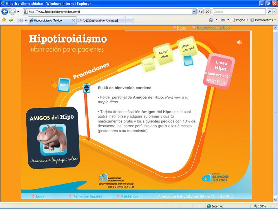 Sitio web karet.com.mx Hipotiroidismomexico.com