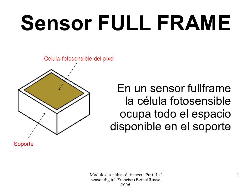 Módulo de análisis de imagen. Parte I, el sensor digital. Francisco Bernal Rosso, 2006. 1 Sensor FULL FRAME En un sensor fullframe la célula fotosensi