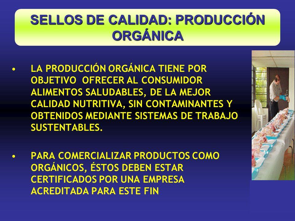 LA PRODUCCIÓN ORGÁNICA TIENE POR OBJETIVO OFRECER AL CONSUMIDOR ALIMENTOS SALUDABLES, DE LA MEJOR CALIDAD NUTRITIVA, SIN CONTAMINANTES Y OBTENIDOS MED