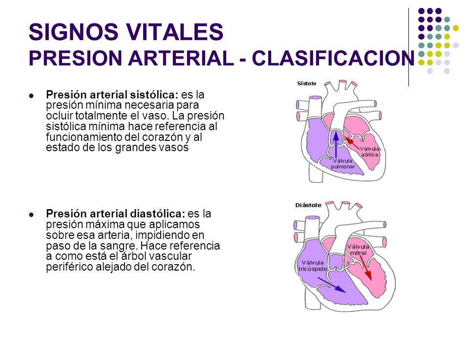 SIGNOS VITALES PRESION ARTERIAL La toma de tensión arterial se puede medir de forma directa, pero la forma indirecta es la más común. Para la indirect
