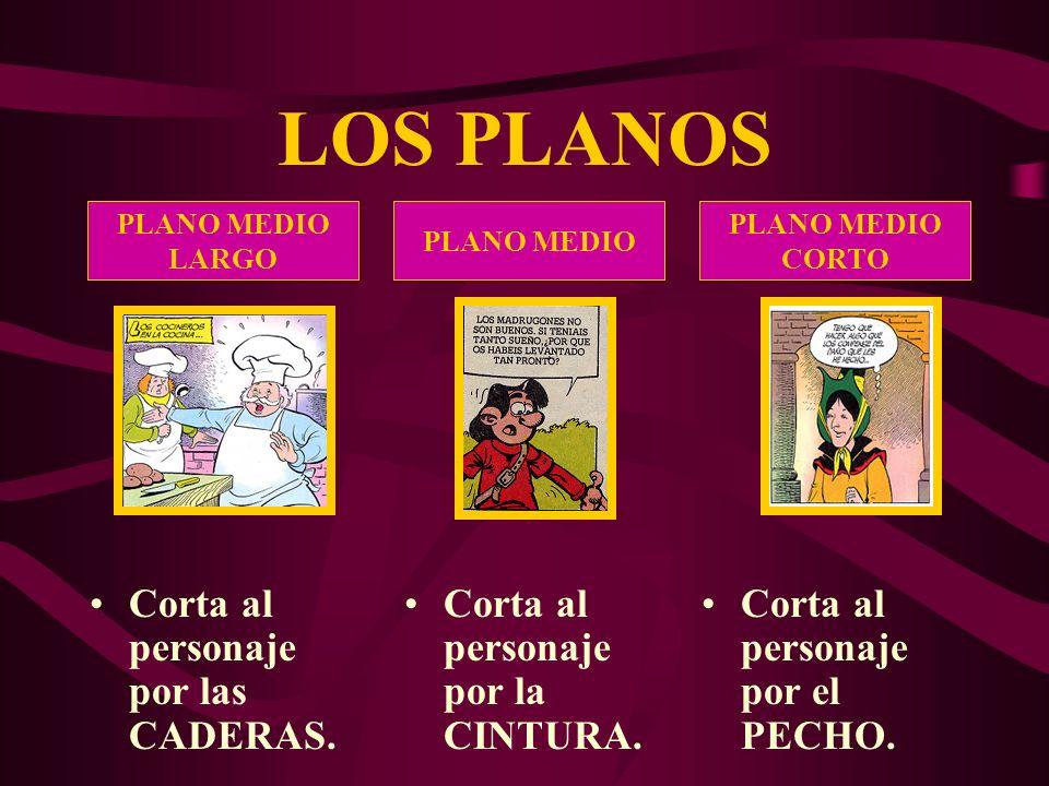 LOS PLANOS PLANO AMERICANO Corta al personaje por las RODILLAS.