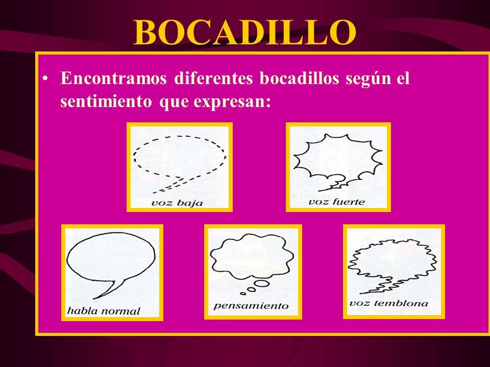 BOCADILLO Es el espacio donde se colocan los textos que piensan o dicen los personajes. Tienen 2 partes: Globo Rabillo ó Delta