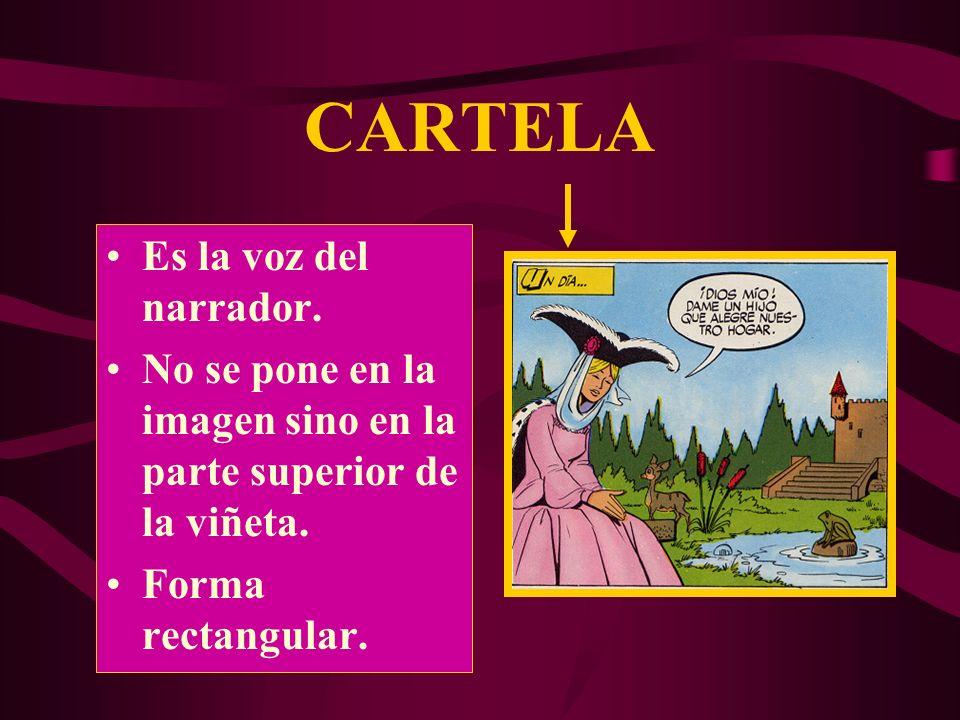 BOCADILLO Bocadillo en off: Cuando el delta señala un lugar fuera de la viñeta indica que el personaje que habla no aparece.