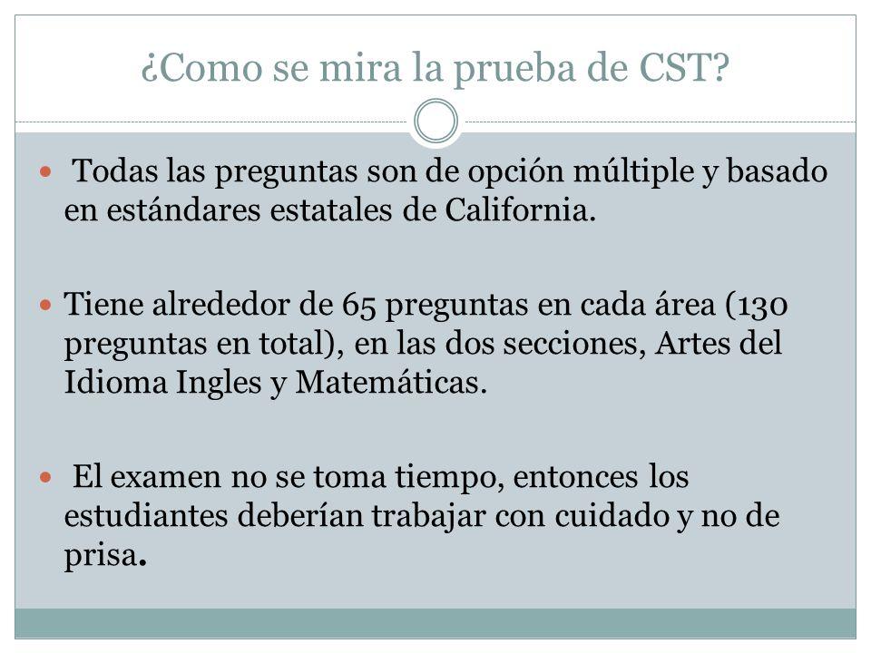 ¿Como se mira la prueba de CST.