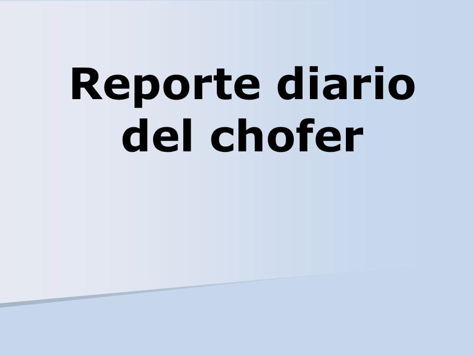Reporte diario del chofer