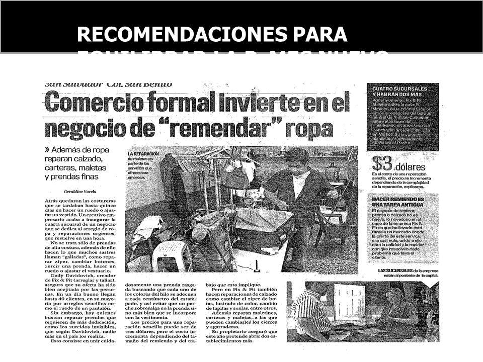 RECOMENDACIONES PARA EQUILIBRAR LA PyMES NUEVO ORDEN FINANCIERO INTERNACIONAL