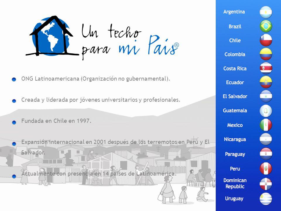 ONG Latinoamericana (Organización no gubernamental). Creada y liderada por jóvenes universitarios y profesionales. Fundada en Chile en 1997. Expansión