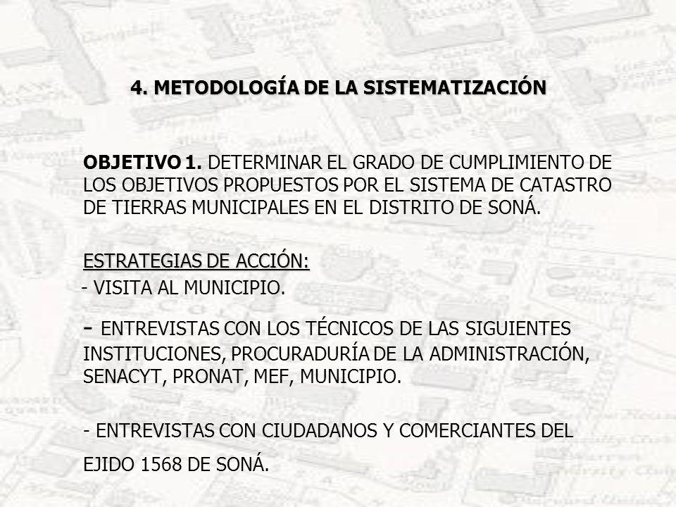 4.METODOLOGÍA DE LA SISTEMATIZACIÓN OBJETIVO 2.