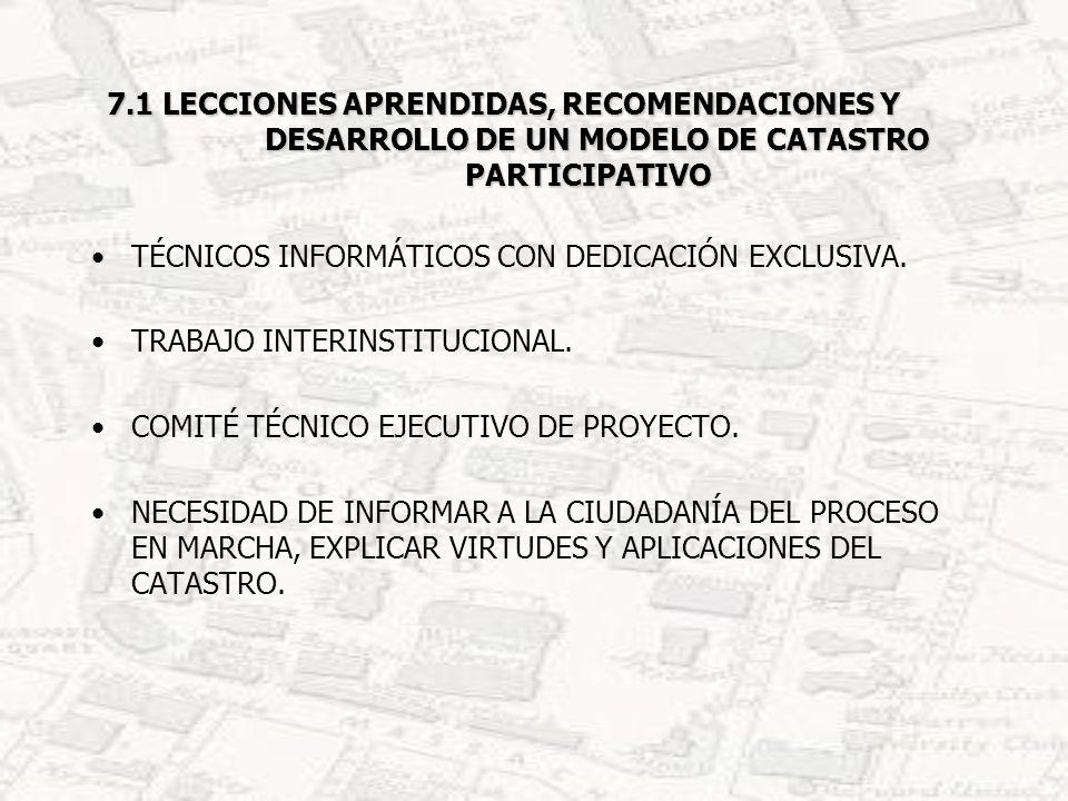 7.2 SISTEMATIZACIÓN DE LAS ETAPAS PARA EL DESARROLLO DEL MODELO DE CATASTRO PARTICIPATIVO 7.2.1 ETAPA ORGANIZATIVA.