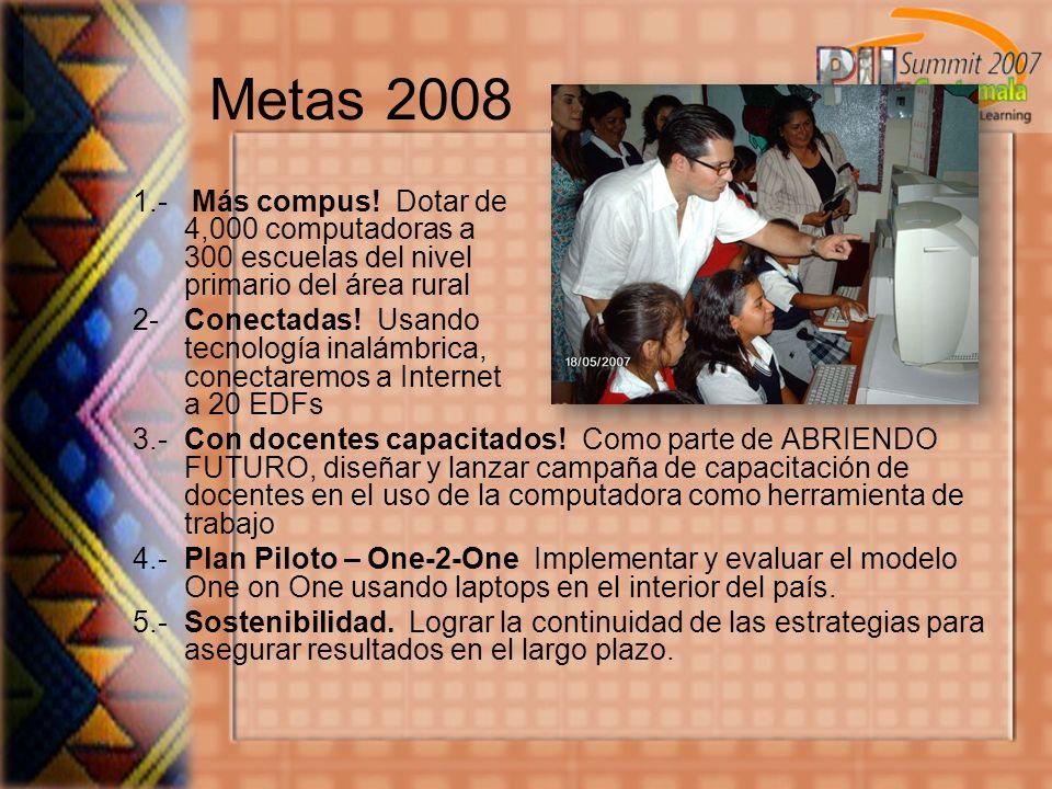 Metas 2008 1.- Más compus.