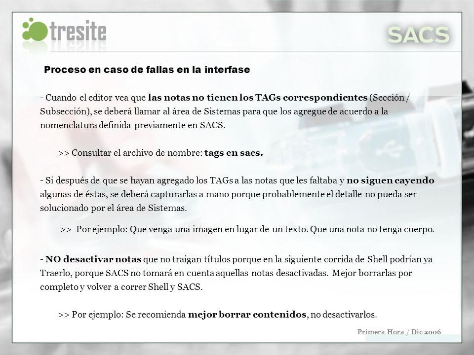 Importar noticias de Tera Primera Hora / Dic 2006