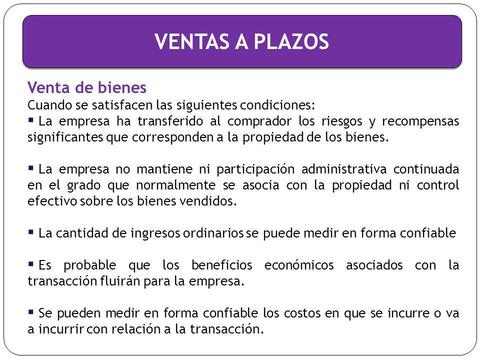 CONTABILIZACION DE LAS VENTAS A PLAZOS Ejercicio I Almacenes de Mayoreo, S.A.