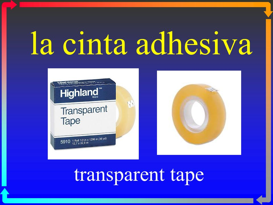 la cinta adhesiva transparent tape