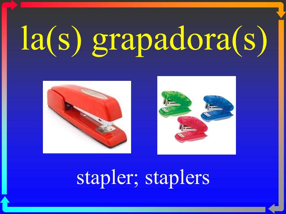 la(s) grapadora(s) stapler; staplers