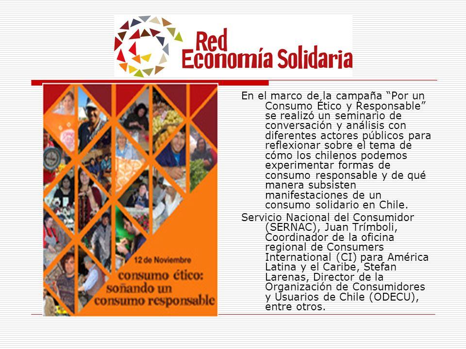 En el marco de la campaña Por un Consumo Ético y Responsable se realizó un seminario de conversación y análisis con diferentes actores públicos para r