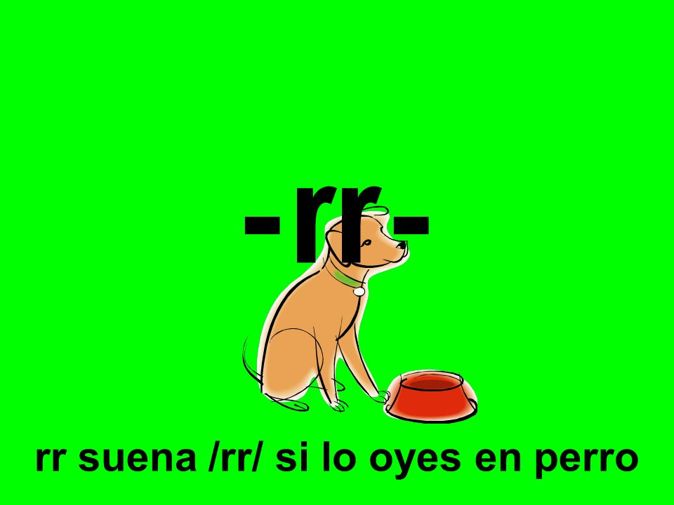 -rr- rr suena /rr/ si lo oyes en perro