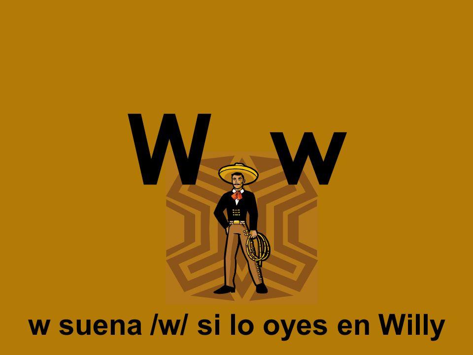 W w w suena /w/ si lo oyes en Willy