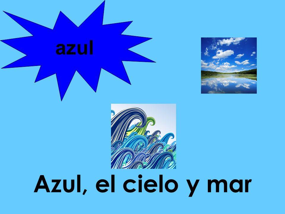 Azul, el cielo y mar azul