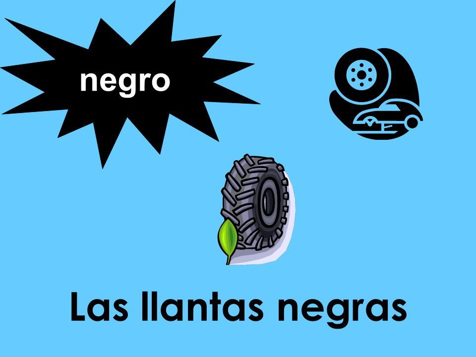 Las llantas negras negro