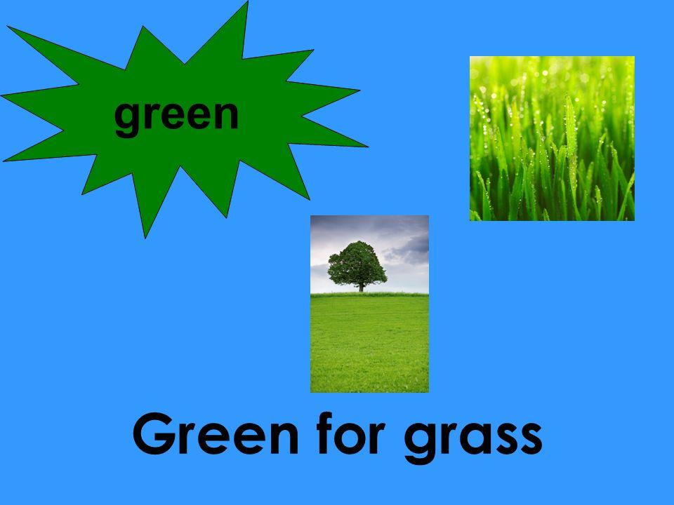 Green for grass green